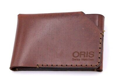 ORIS WINGBACK LONDON WALLET VINTAGE STYLE CARTERA CARDHOLDER LEATHER PIEL NEW