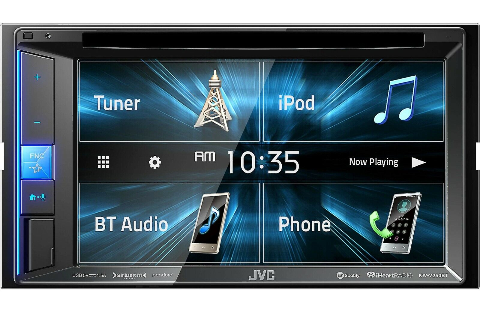 JVC KW-V240BT, DVD/CD Car Stereo With 6.2 Inch Touchscreen w