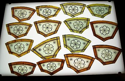 15 Antique Stained Glass Leaded Window sections