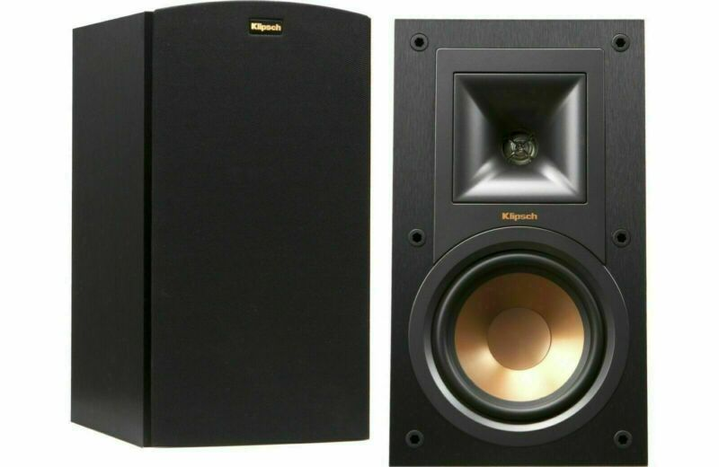 Klipsch R-15M Pair Reference Bookshelf Monitor Speakers, Sealed New In Box.