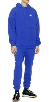 SET Lot M.A. Martin Asbjorn Blue Lounge Pants +Hoodie Sweatshirt Tracksuit-Large