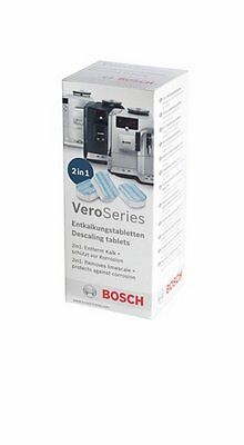 BOSCH VEROBAR VEROCAFE 3 TABLETS FOR AUTOMATIC DESCALING PROGRAM COFFEE 576694