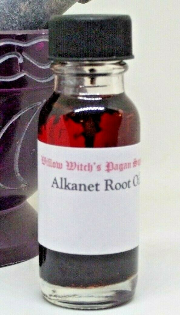 Alkanet Root Oil 1/2 Ounce Wicca Hoodoo Voodoo Witchcraft Pagan Supplies  - $5.99