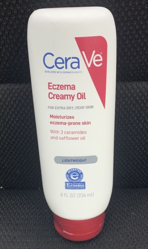 CeraVe Eczema Soothing Creamy Oil, 8.OZ each Free Shipping! Sealed