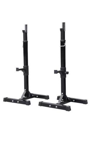 2pcs Adjustable Squat Rack Bench Press Power Weight Rack Bar