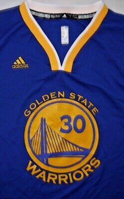 Mens BNWOT Blue Adidas NBA GOLDEN STATE WARRIORS STEPHEN CURRY Jersey size XL