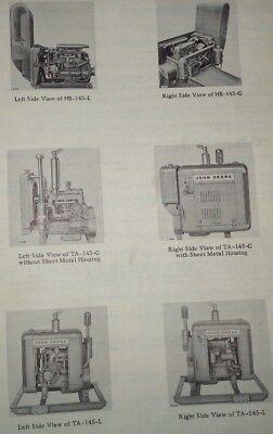 John Deere 145 Series Engine Power Unit Parts Catalog Manual Book Jd
