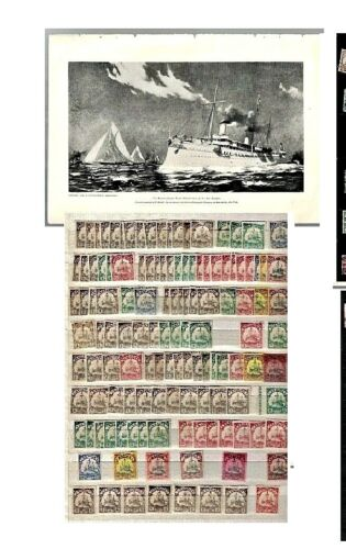 XLNT Large Collection of Colonial YACHTS  - 120+ Stamps + on Stock Card MH/MNH/U