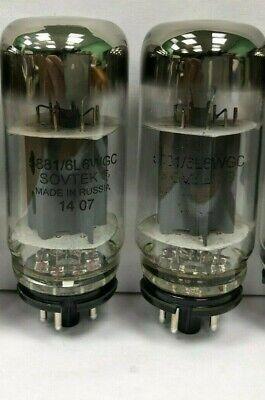 Sovtek 6L6WGC 5881 Pair of Russian Vacuum Tubes Used & Tested