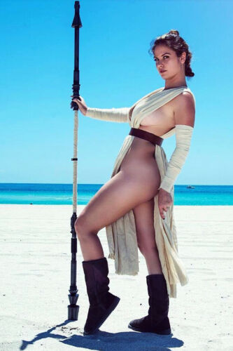 Sexy Star Wars Rey Hot Cleavage Cosplay 4x6 photograph SEXY!!! #2