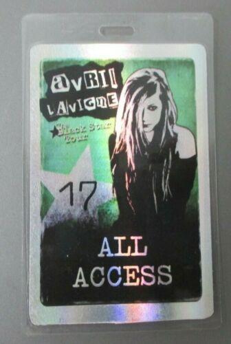 "Avril Lavigne laminated backstage pass ""The Black Star Tour"""