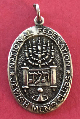Vintage Religious Medal - STERLING - National Federation of Jewish Men's Clubs