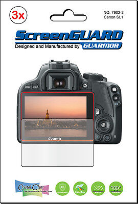 3x Clear LCD Screen Protector Guard Cover Shield Film Canon Rebel SL1 EOS 100D