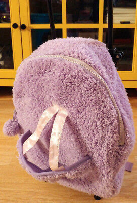 (Plush Purple Toddler Rolling Backpack Luggage Travel Trolley Doll Toy Carrier )