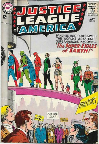 Justice League of America #19, DC 1963 Fox/Sekowsky  VG/FN