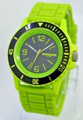 Men's/Women's QUIKSILVER Slam Watch, Green / Black, Silicone Straps, QWMA010