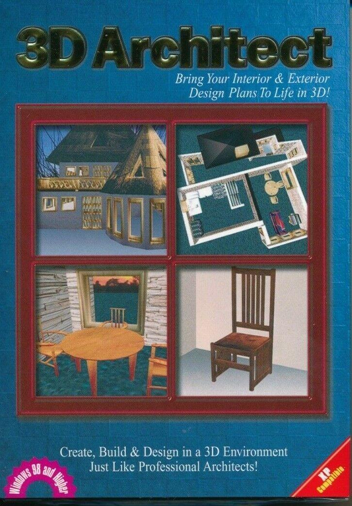 3d Architect Interior Exterior Plan Designer Pc Cd Rom Disc In Sleeve 5036373706954 Ebay