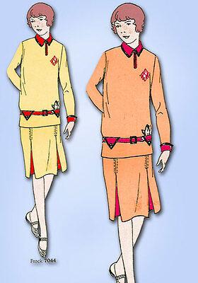 1920s Jahre Vtg Butterick Nähmuster 7044 Uncut Kleine Mädchen Flapper Kleid
