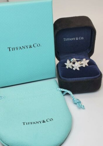 Tiffany Co Victoria Mixed Cluster Earrings And Ring PT950