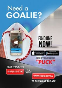Edmonton's easiest and fastest way to get a goalie