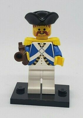 authentic LEGO minifigure Imperial Officer pirates pi063 blue coat gun