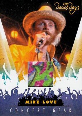 THE BEACH BOYS 2013 PANINI CONCERT GEAR COSTUME INSERT CHASE CARD # 2 MU LOVE (Beach Boys Costume)