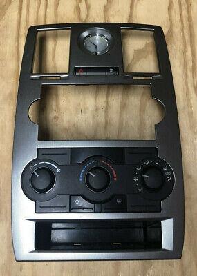 2005 2006 2007 CHRYSLER 300 300C RADIO BEZEL W/ CLIMATE CONTROL CLOCK OEM