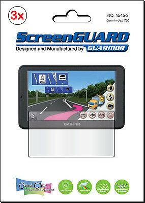 """3x Clear LCD Screen Protector film Garmin RV dezl 760 760LT 760LMT LT LMT 7"""" GPS"""
