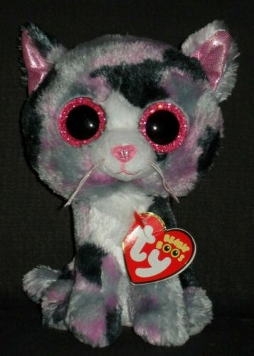 """TY BEANIE BOOS - LINDI the 6"""" CAT - MINT with TAGS - SEE PICS"""