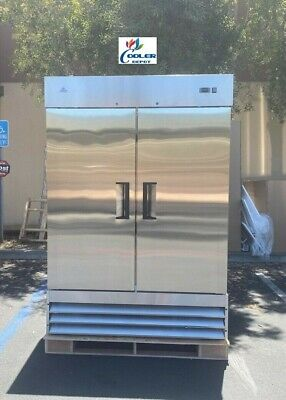 New Hd Commercial Reach-in Refrigerator Two Door Stainless Nsf Model Xb54r