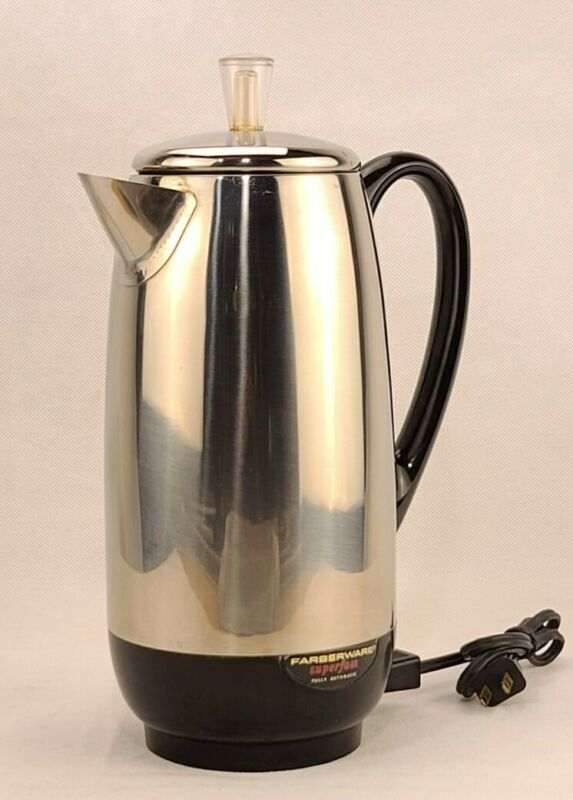 Vintage Farberware Superfast Electric 2-12 Cup  Coffee Percolator #142 USA