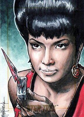 Star Trek ToS 50th Anniversary Rare Warren Martineck / Uhura Sketch Card