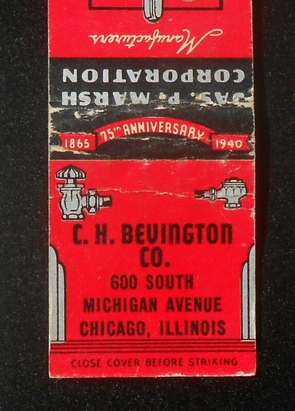 1940 75 Years Jas. P. Marsh Gauges Valves Traps C. H. Bevington Co. Chicago IL