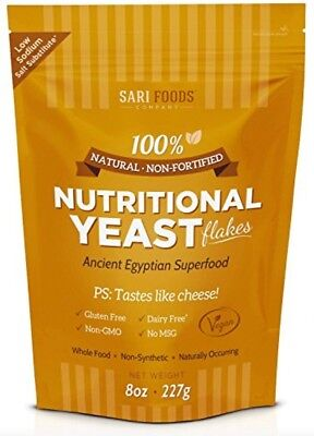 Sari Foods Company Natural Nonfortified Nutritional Yeast Flakes  8 Oz