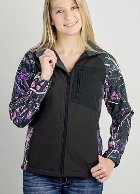 Muddy Girl Camo Full Zipper Jacket/Coat | Ladies | Choose Black w/ Pink or Teal](Girls Pink Ladies Jacket)