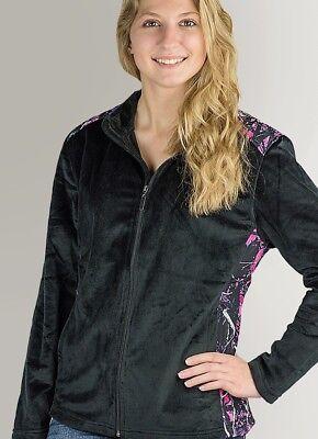 Muddy Girl Camo Pink Purple Black Fleece | Womens Full Zip - Girls Pink Jackets