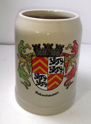 Vintage  Germany Babenhausen Pilsner Beer Stein .5L