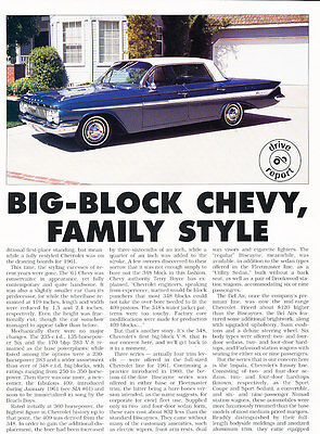 1961 Chevrolet Impala Original Car Review Print Article J433