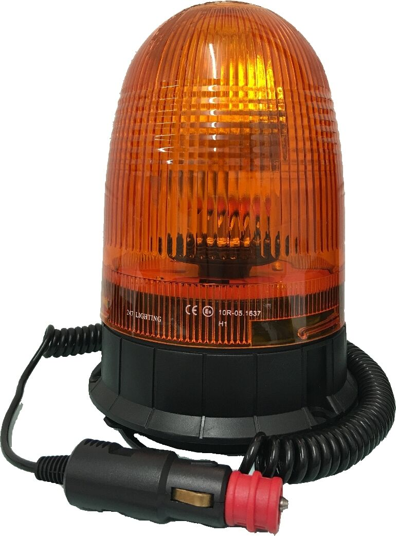 ROTATING 12//24 VOLT HALOGEN WARNING BEACON WITH FLEXIBLE PIN