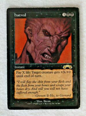 Hatred, Exodus, LP-MP/Unplayed Reserve List! Magic the Gathering MTG