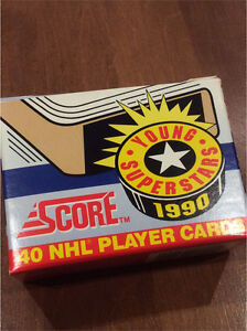 1990 Score NHL Young Superstars 40 Players Cards