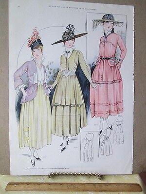 Vintage Print Le Bon Ton 1916 Styles 2277 2279