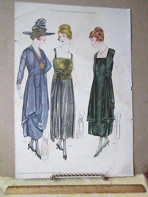 Vintage Print Le Bon Ton 1917 2408 2410