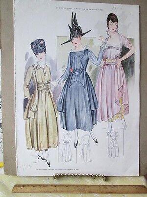 Vintage Print Le Bon Ton 1916 2280 2282