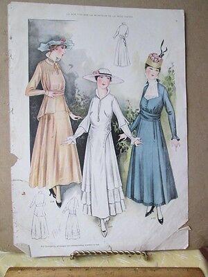 Vintage Print Le Bon Ton 1915  Styles 2186 2188