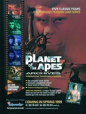 PLANET OF THE APES Sell Sheet - SALE SHEET Trading Cards POA