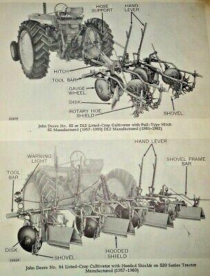 John Deere 80 Thru Rl630 Listed-crop Cultivator Parts Catalog Manual Original