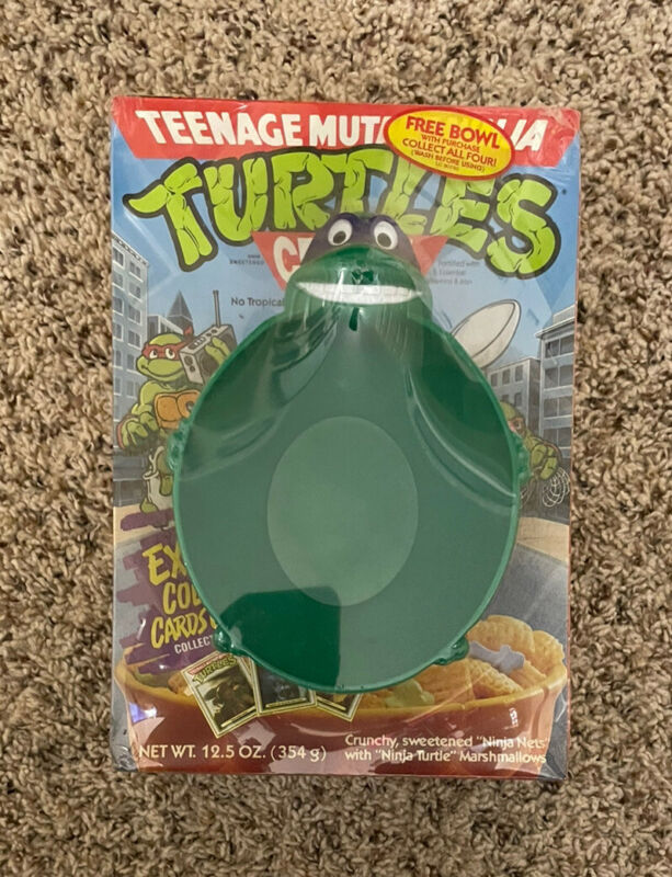 Teenage Mutant Ninja Turtles Factory Sealed Cereal Box And Bowl TMNT Collectible