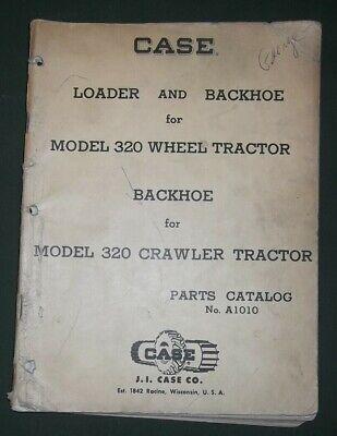 Case Loader And Backhoe For 320 Tractor Parts Manual Book Oem Original