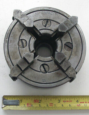 "Vintage CROWN 4"" Capacity 4 Jaw Chuck, made in England"